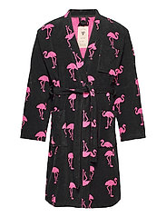 The Flamingo Robe - BLACK