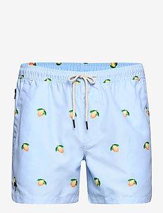 Blue Lemon Swim Shorts - shorts - blue