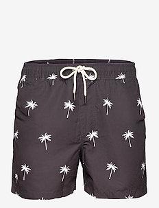 Black Palm Swim Shorts - badbyxor - black