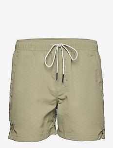 Green Nylon Swim Shorts - shorts - green