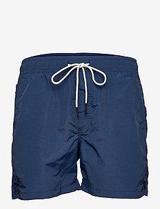 Navy Nylon Swim Shorts - shorts - blue