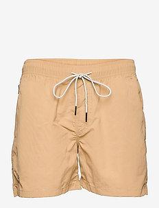Beige Nylon Swim Shorts - shorts - beige