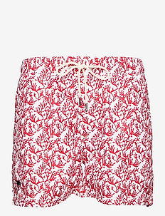 Red Coral Swim Shorts - shorts - red