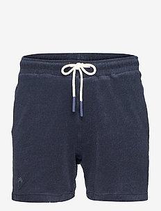 Navy Terry Shorts - casual shorts - blue