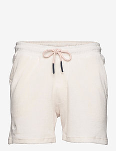 White Terry Shorts - casual shorts - white