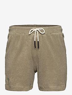 Khaki Terry Shorts - casual shorts - green