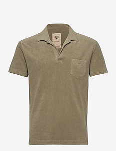 Solid Khaki Terry Shirt - korte mouwen - khaki