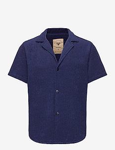 Navy Cuba Terry Shirt - krótki rękaw - blue