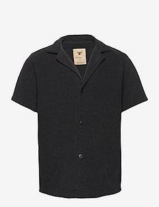 Black Cuba Terry Shirt - overhemden korte mouwen - black