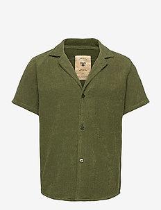 Army Cuba Terry Shirt - krótki rękaw - green