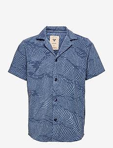 Wavy Terry Shirt - tops - blue