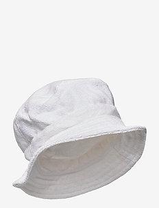 White Bucket Hat - bucket hats - white