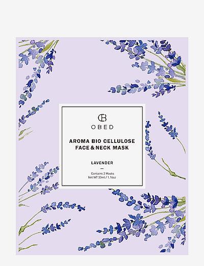 Aroma Bio Cellulose Face & Neck Mask Lavender - CLEAR
