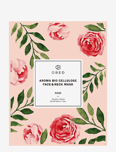 Aroma Bio Cellulose Face & Neck Mask Rose - CLEAR