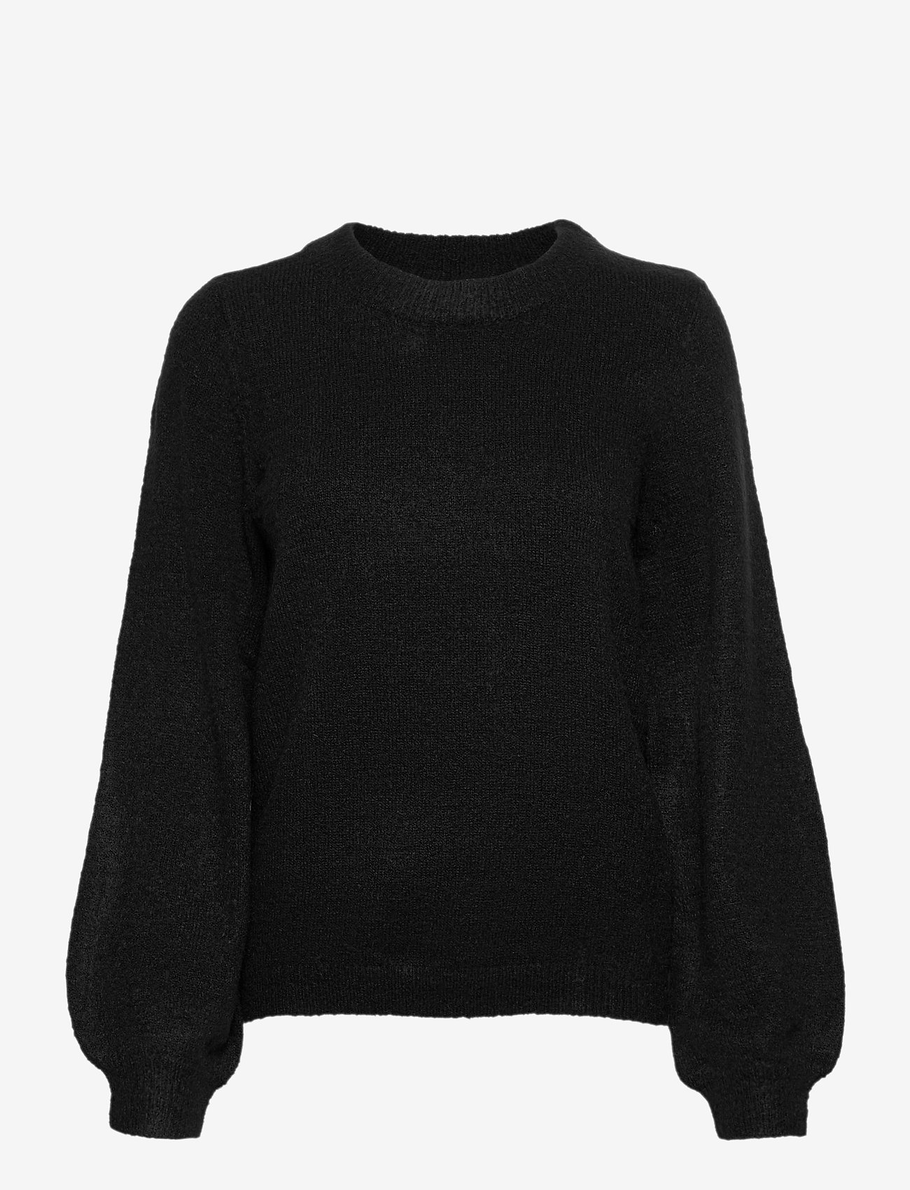 Object - OBJEVE NONSIA L/S KNIT PULLOVER - jumpers - black - 0