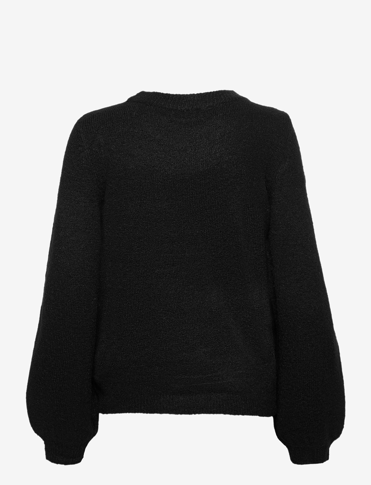 Object - OBJEVE NONSIA L/S KNIT PULLOVER - jumpers - black - 1