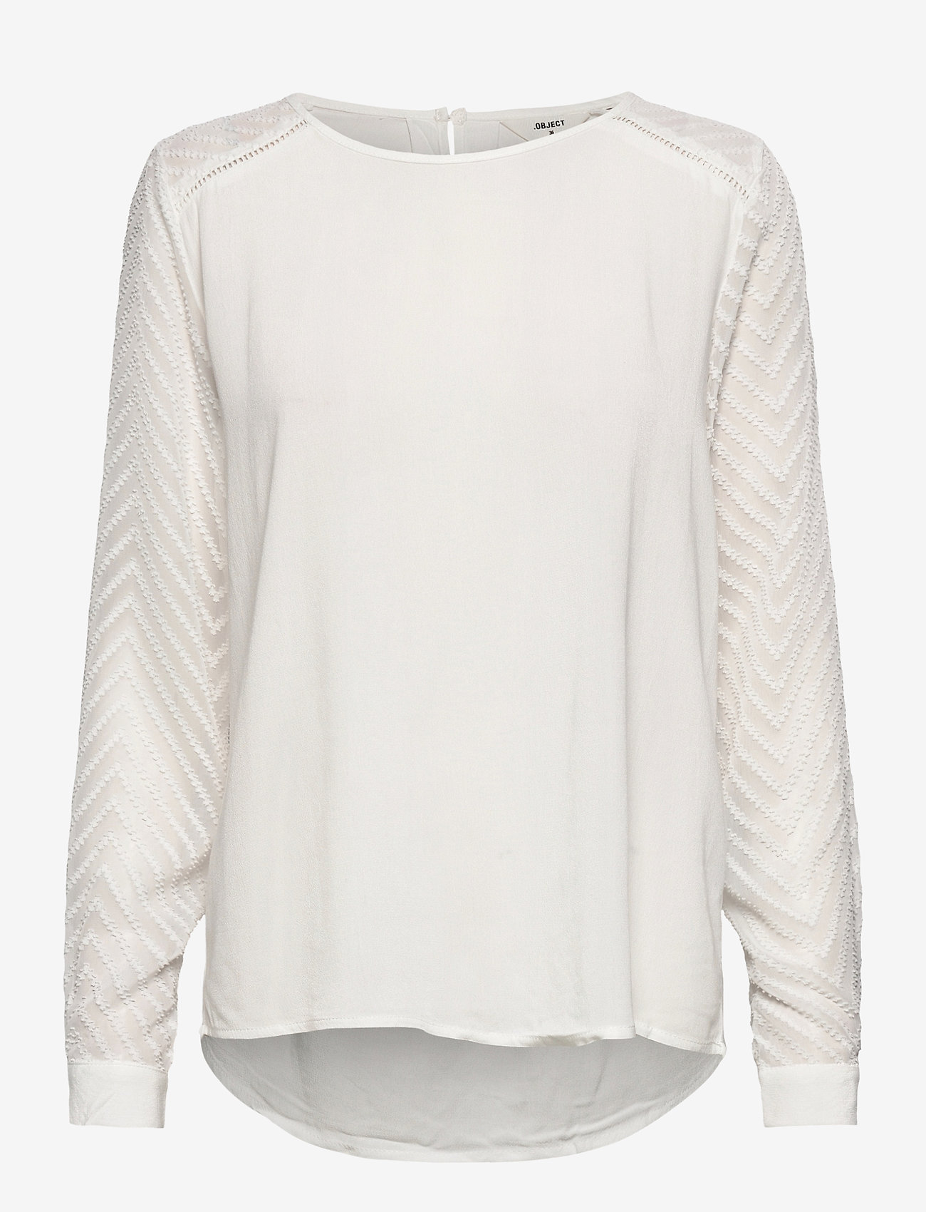 Object - OBJZOE L/S TOP - t-shirt & tops - gardenia - 0