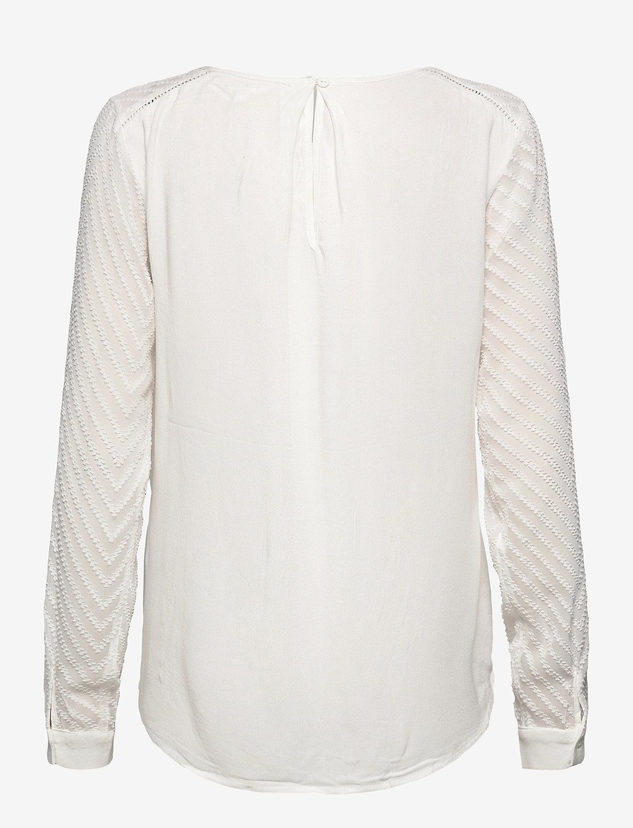 Object - OBJZOE L/S TOP - t-shirt & tops - gardenia - 1