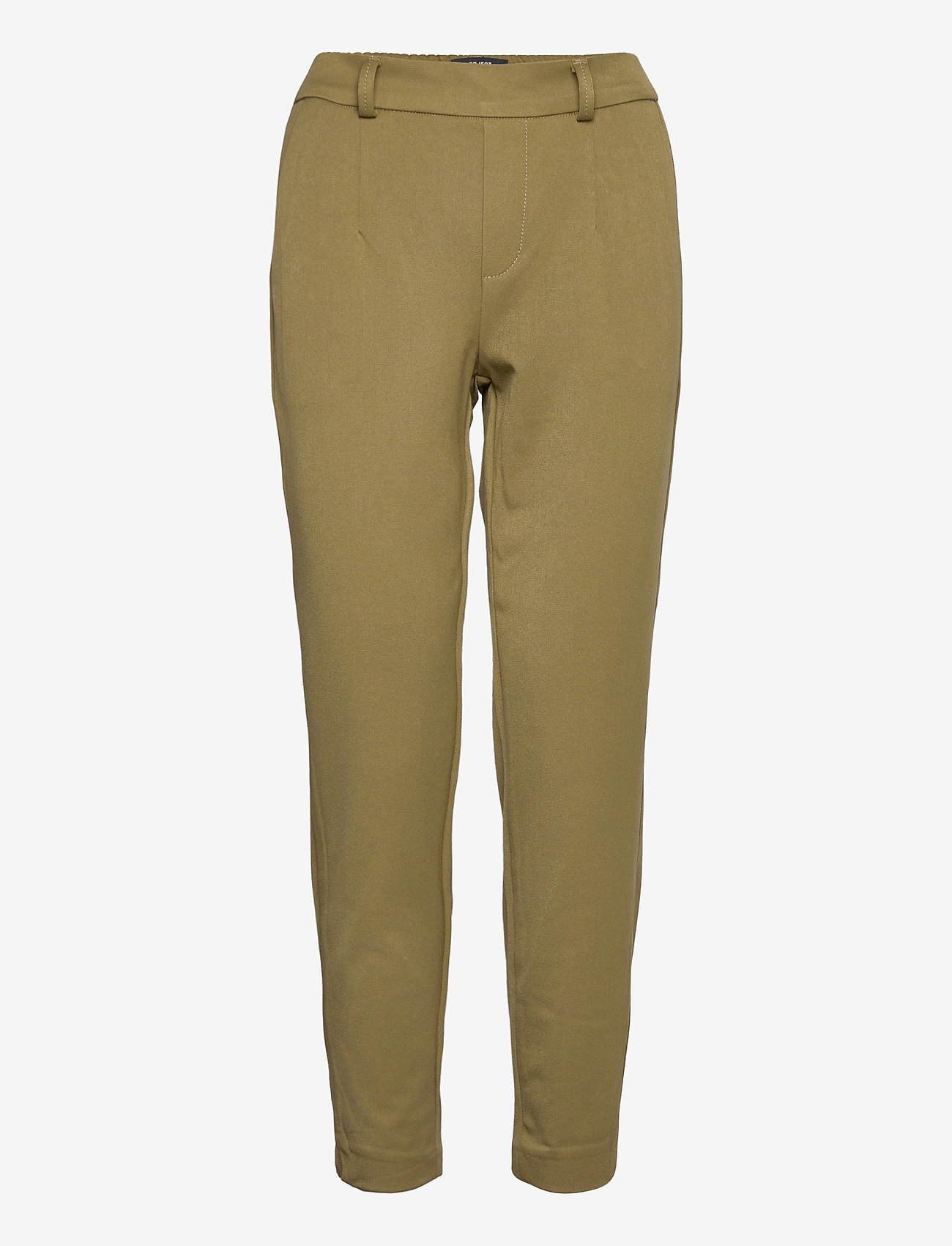 Object - OBJLISA SLIM PANT - slim fit trousers - burnt olive - 0