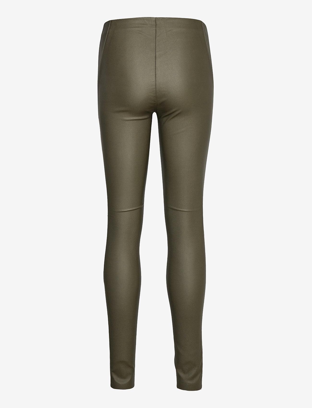 Object - OBJBELLE MW COATED LEGGINGS - leggings - forest night - 1