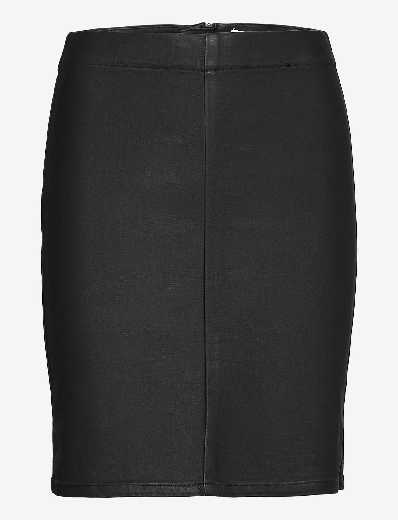 Object - OBJBELLE MW SUPERCOATED SKIRT - midi skirts - black - 0