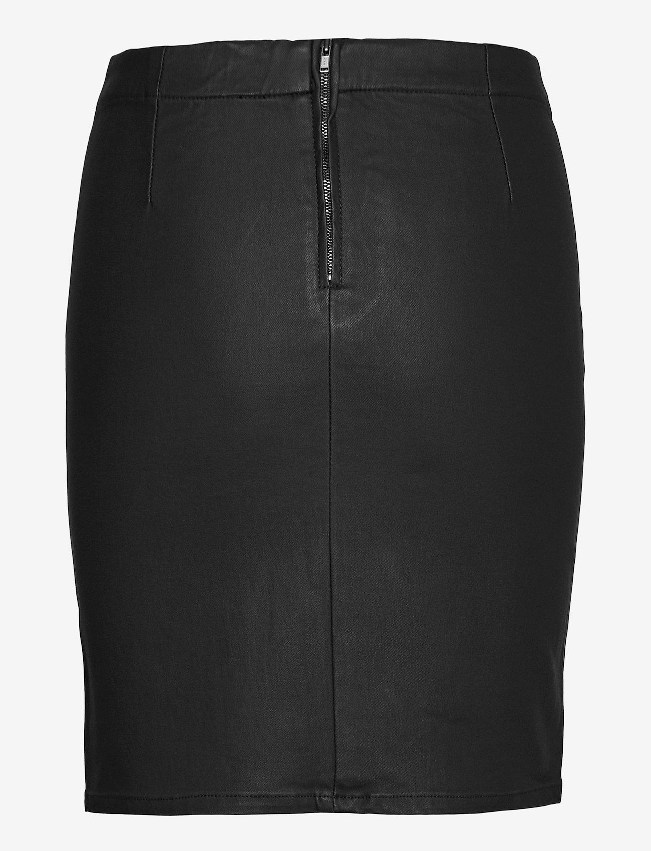 Object - OBJBELLE MW SUPERCOATED SKIRT - midi skirts - black - 1