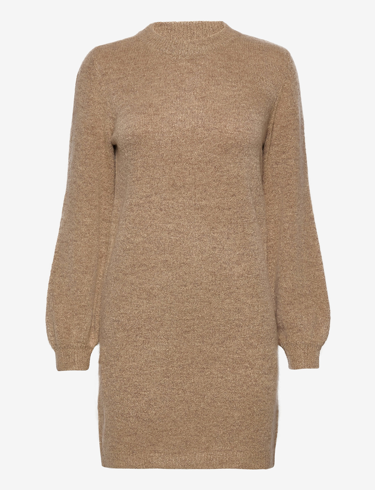 Object - OBJEVE NONSIA L/S KNIT DRESS - knitted dresses - incense - 0
