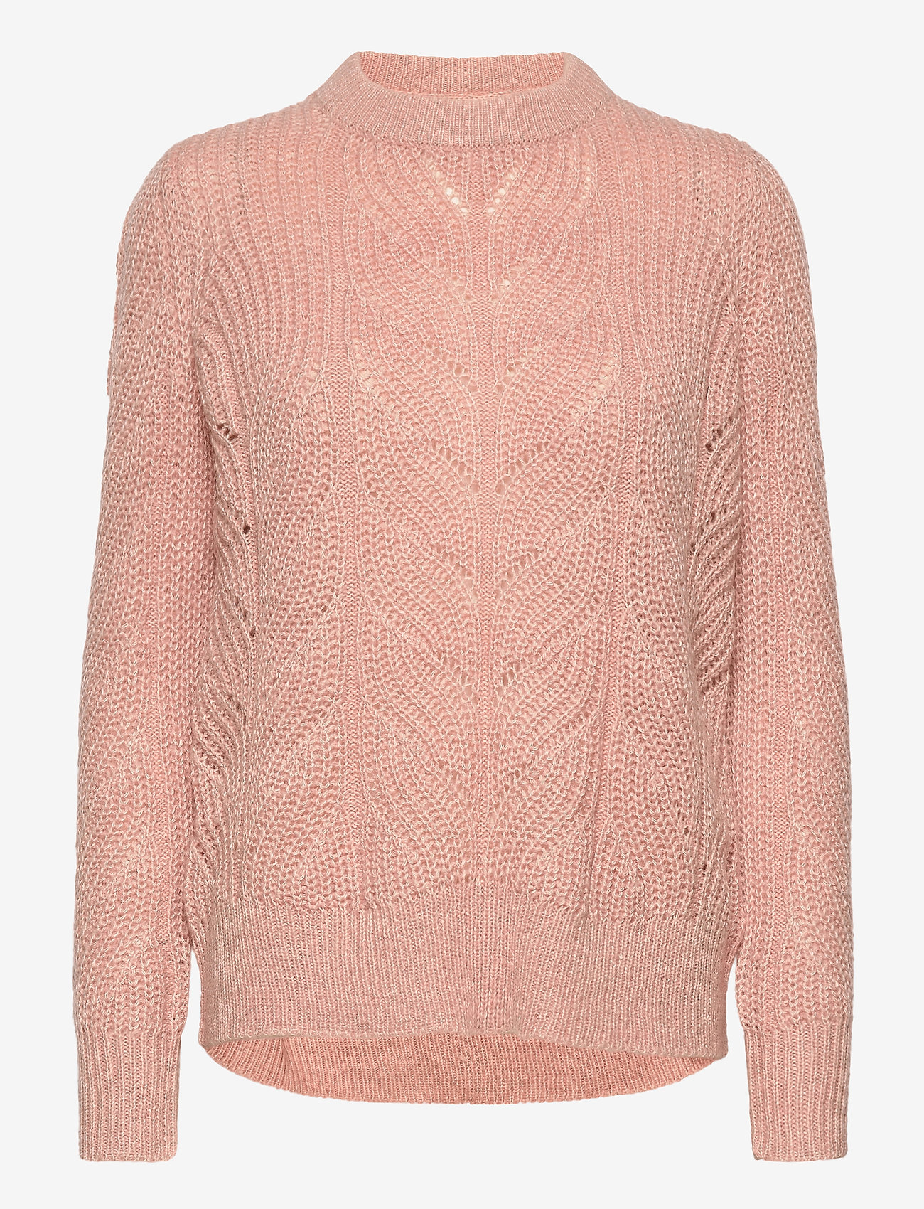 Object - OBJNOVA STELLA L/S KNIT PULLOVER - jumpers - misty rose - 0