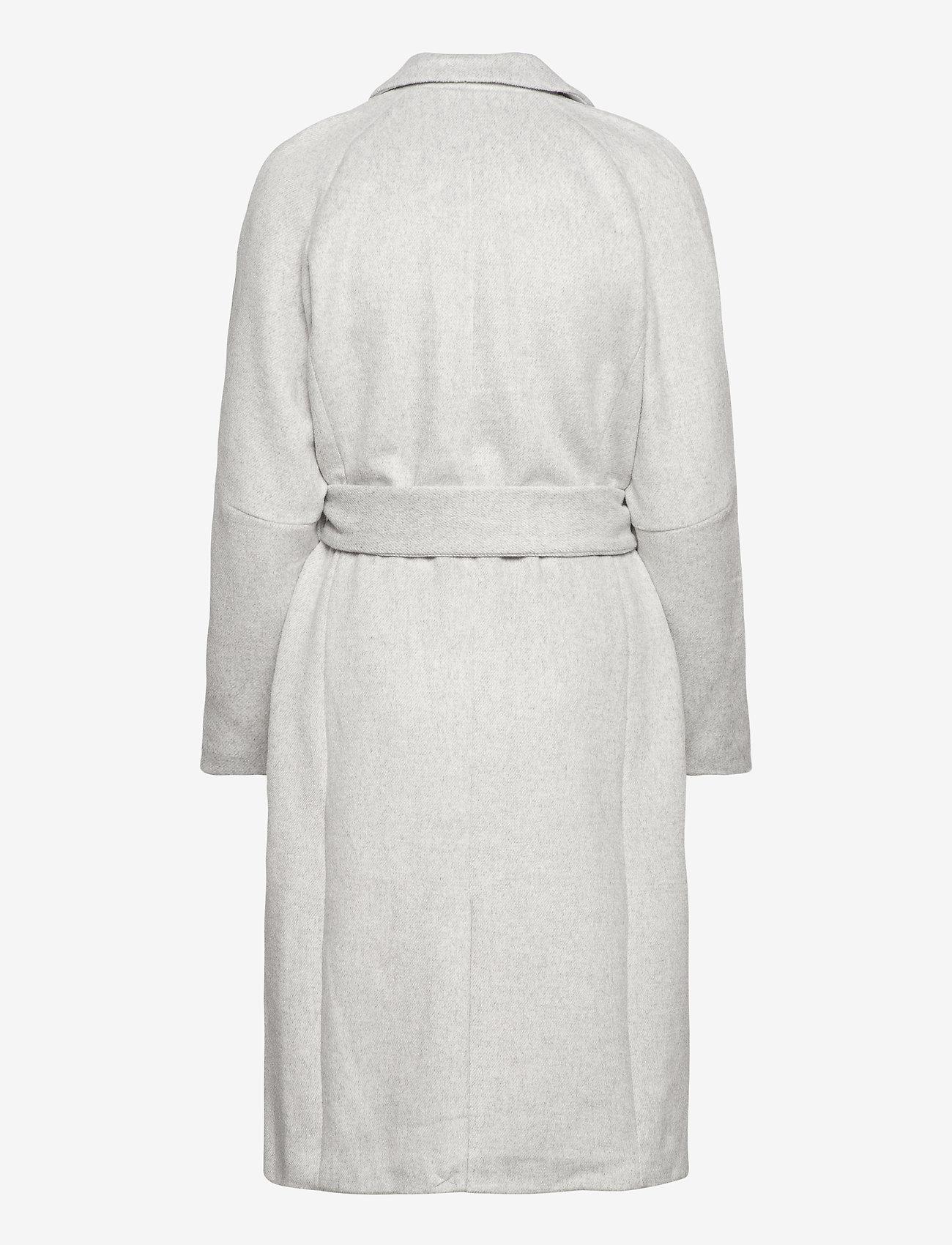 Object - OBJLENA COAT - wool coats - light grey melange - 1