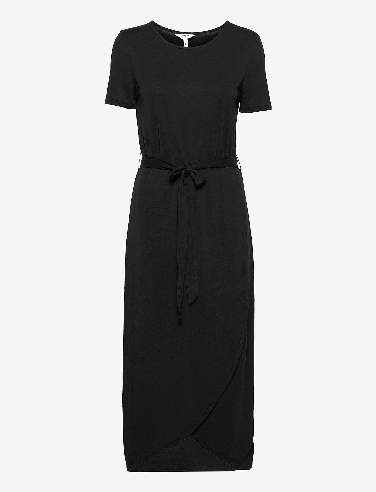 Object - OBJANNIE NADIA S/S DRESS - kesämekot - black - 0