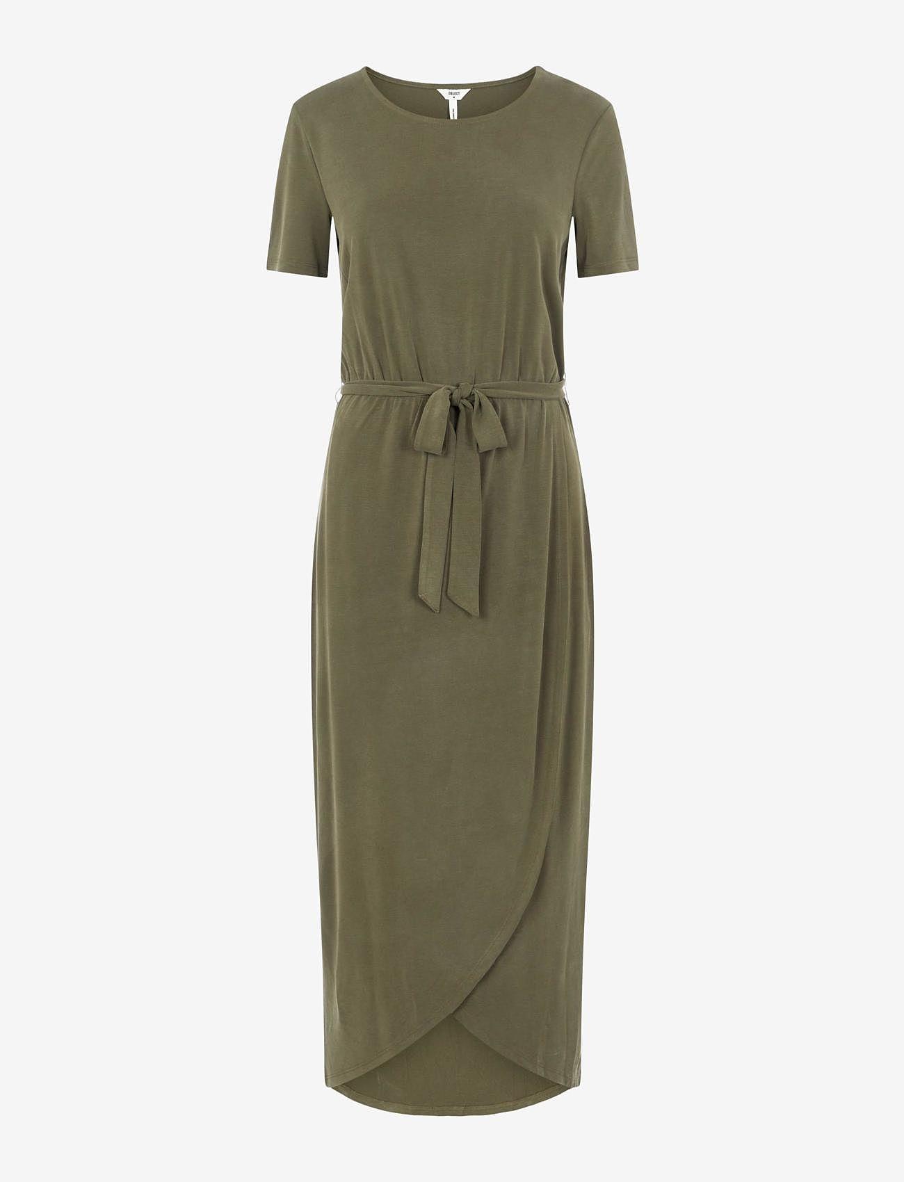 Object - OBJANNIE NADIA S/S DRESS - summer dresses - forest night - 0