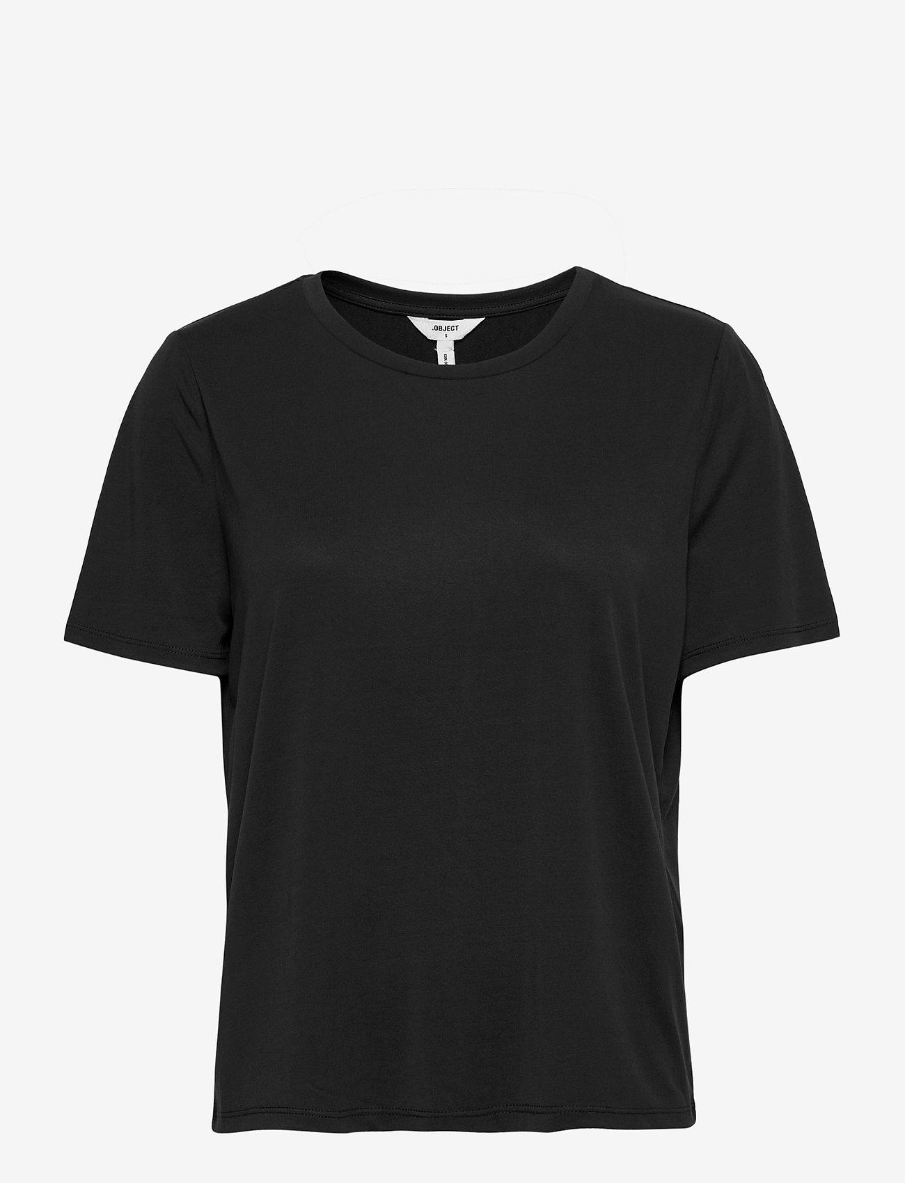 Object - OBJANNIE S/S T-SHIRT - t-shirts - black - 0