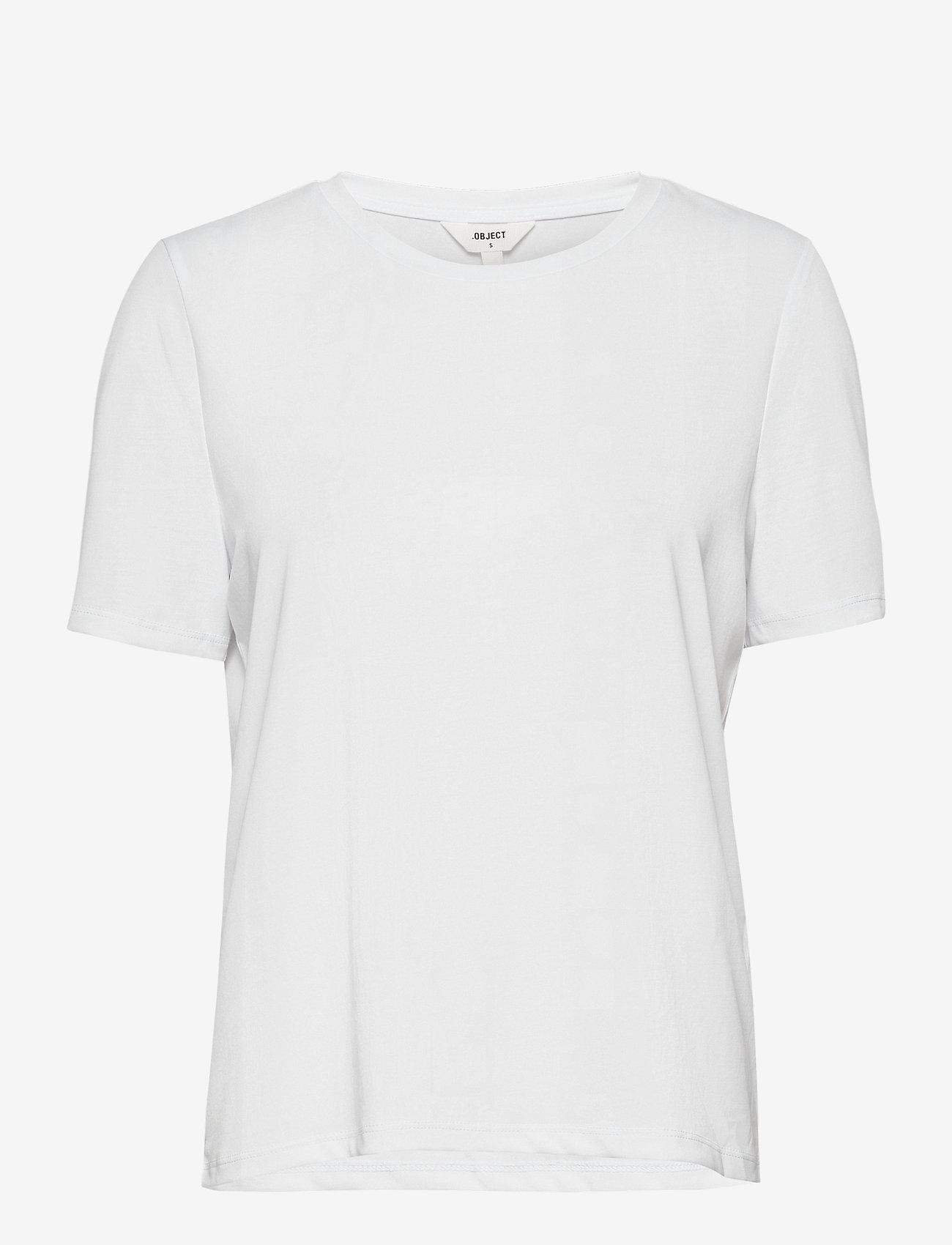 Object - OBJANNIE S/S T-SHIRT - t-shirts - white - 0