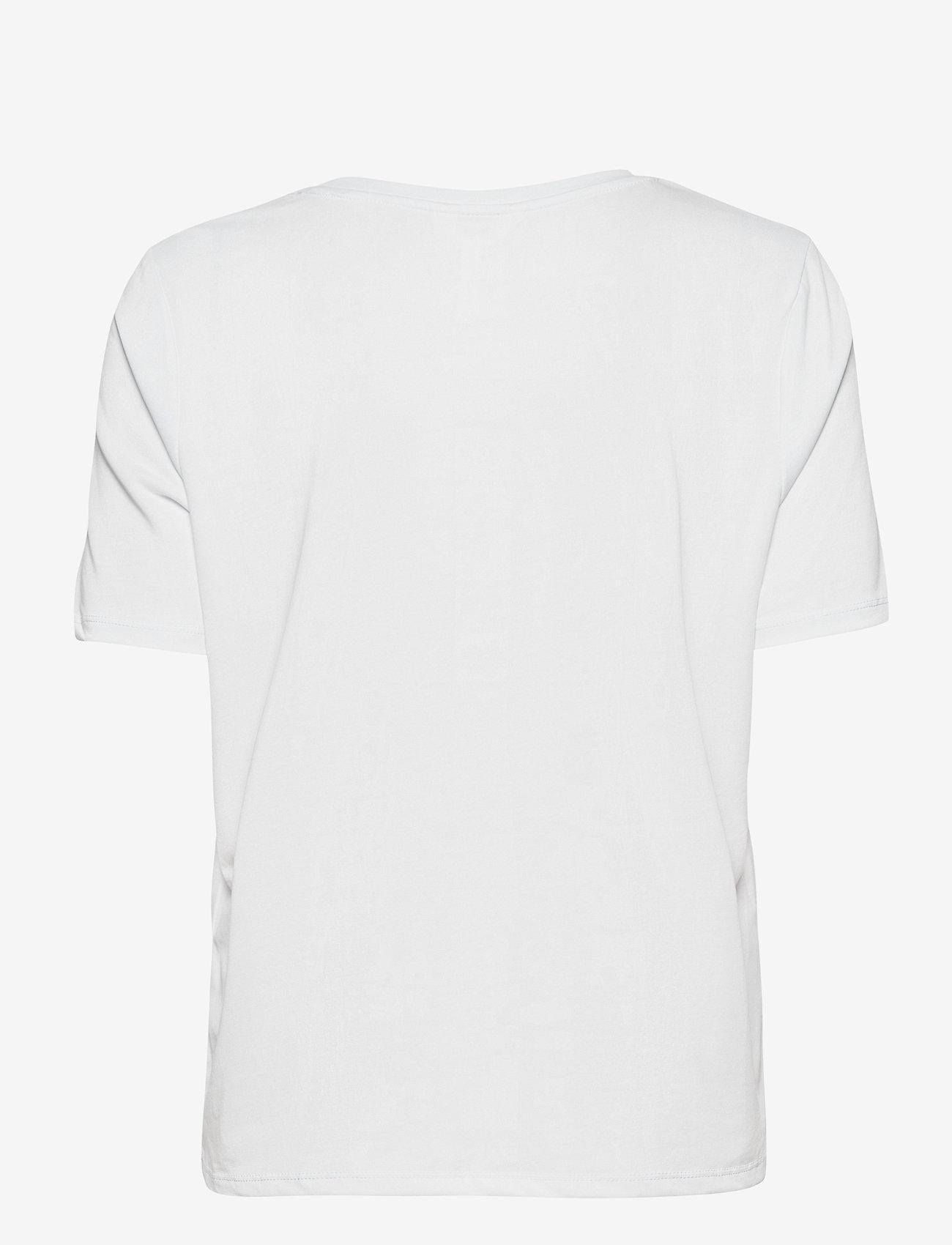 Object - OBJANNIE S/S T-SHIRT - t-shirts - white - 1