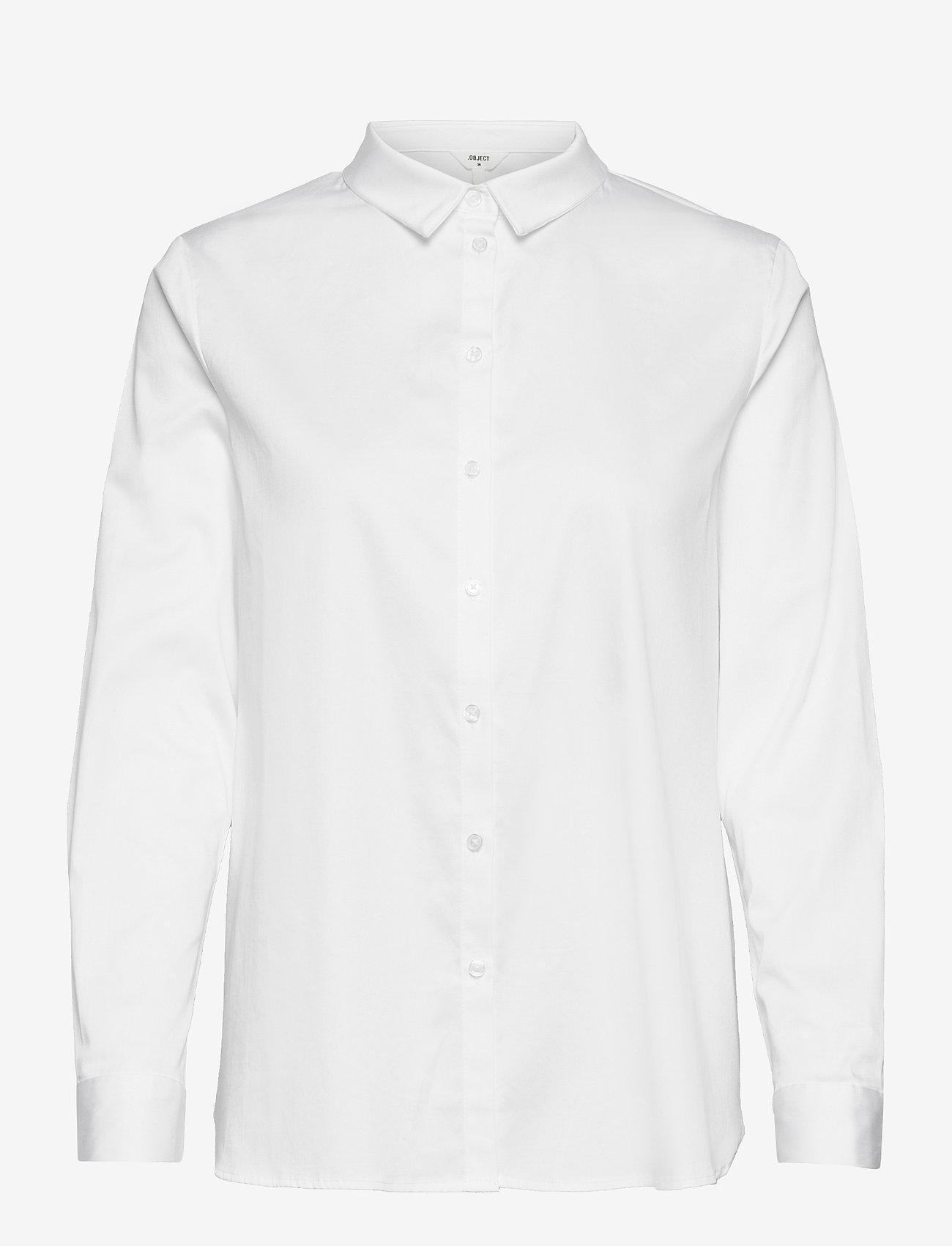 Object - OBJROXA L/S LOOSE SHIRT - pitkähihaiset paidat - white - 0