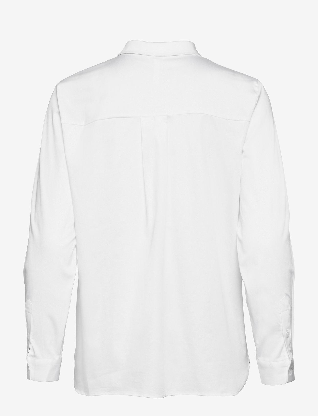 Object - OBJROXA L/S LOOSE SHIRT - pitkähihaiset paidat - white - 1