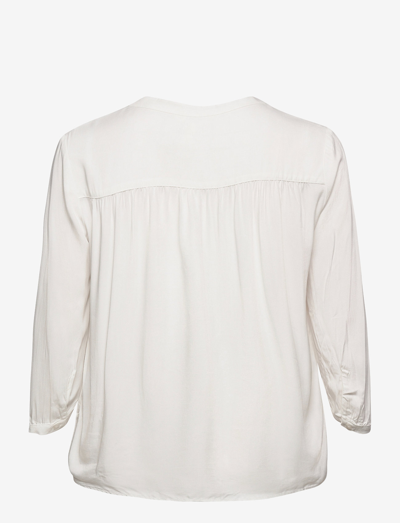 Object - OBJBAYA 3/4 V-NECK BLOUSE - long sleeved blouses - cloud dancer - 1