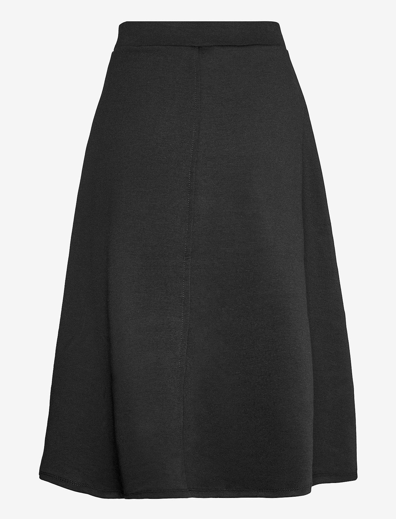 Object - OBJSAVA MW SKIRT - midi skirts - black - 1