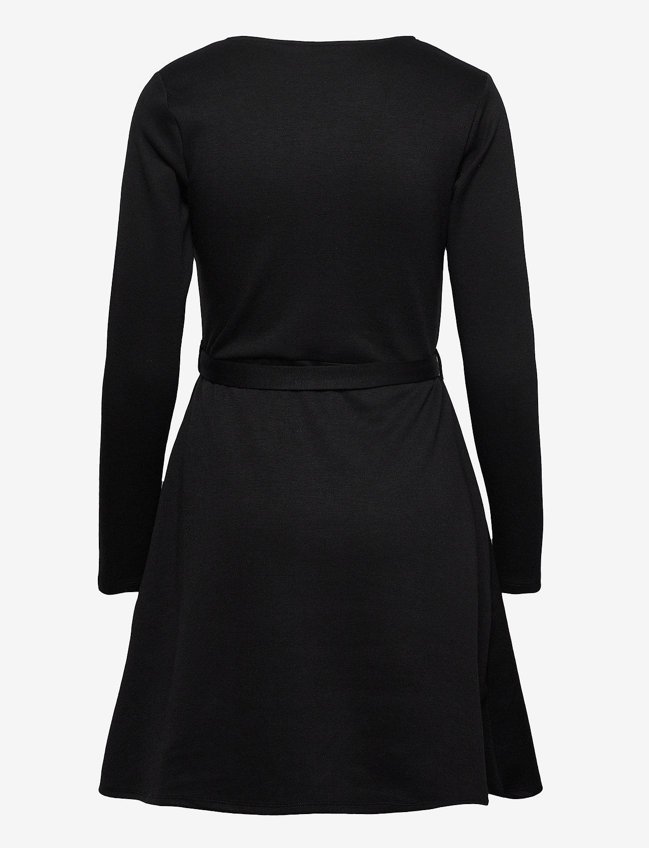 Object - OBJSAVA L/S V-NECK DRESS - everyday dresses - black - 1