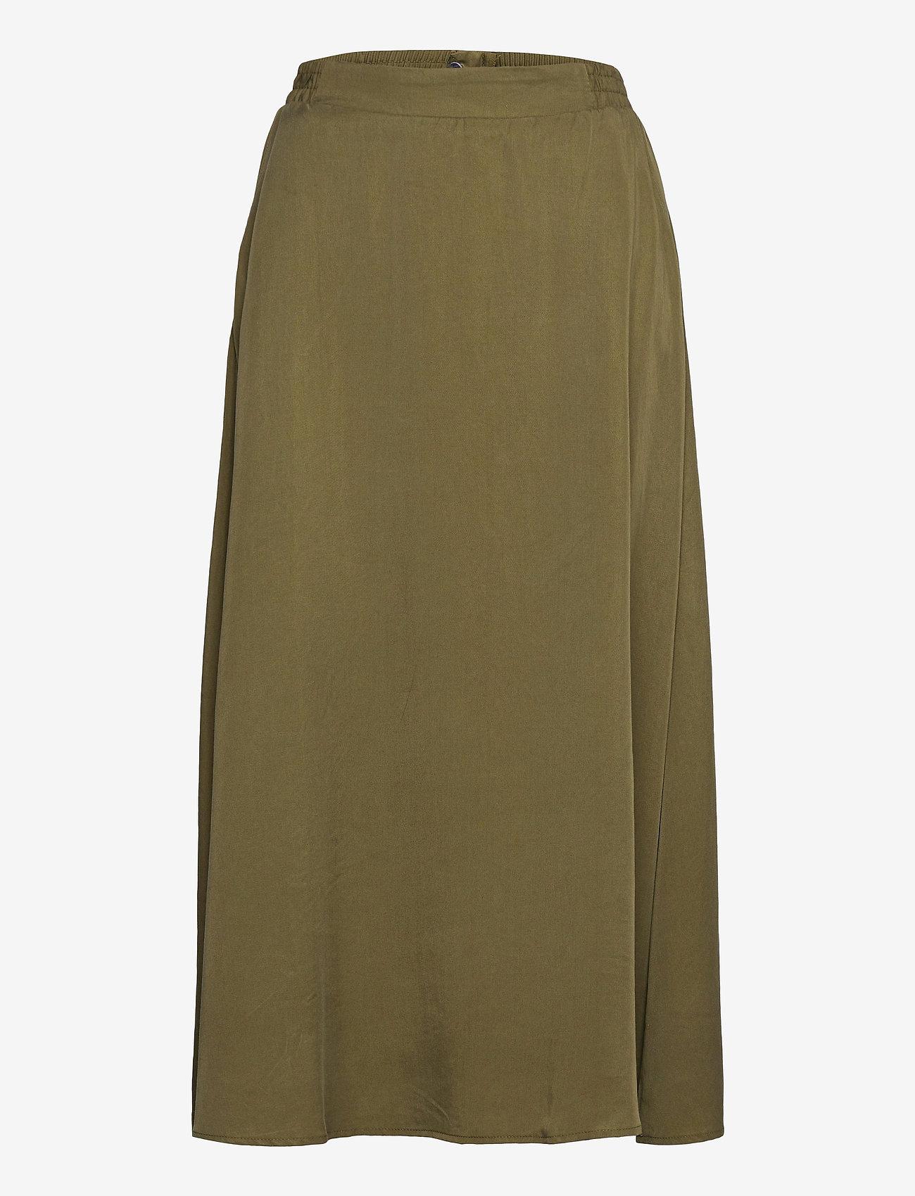 Object - OBJTILDA HW SKIRT SC - midi skirts - burnt olive - 0
