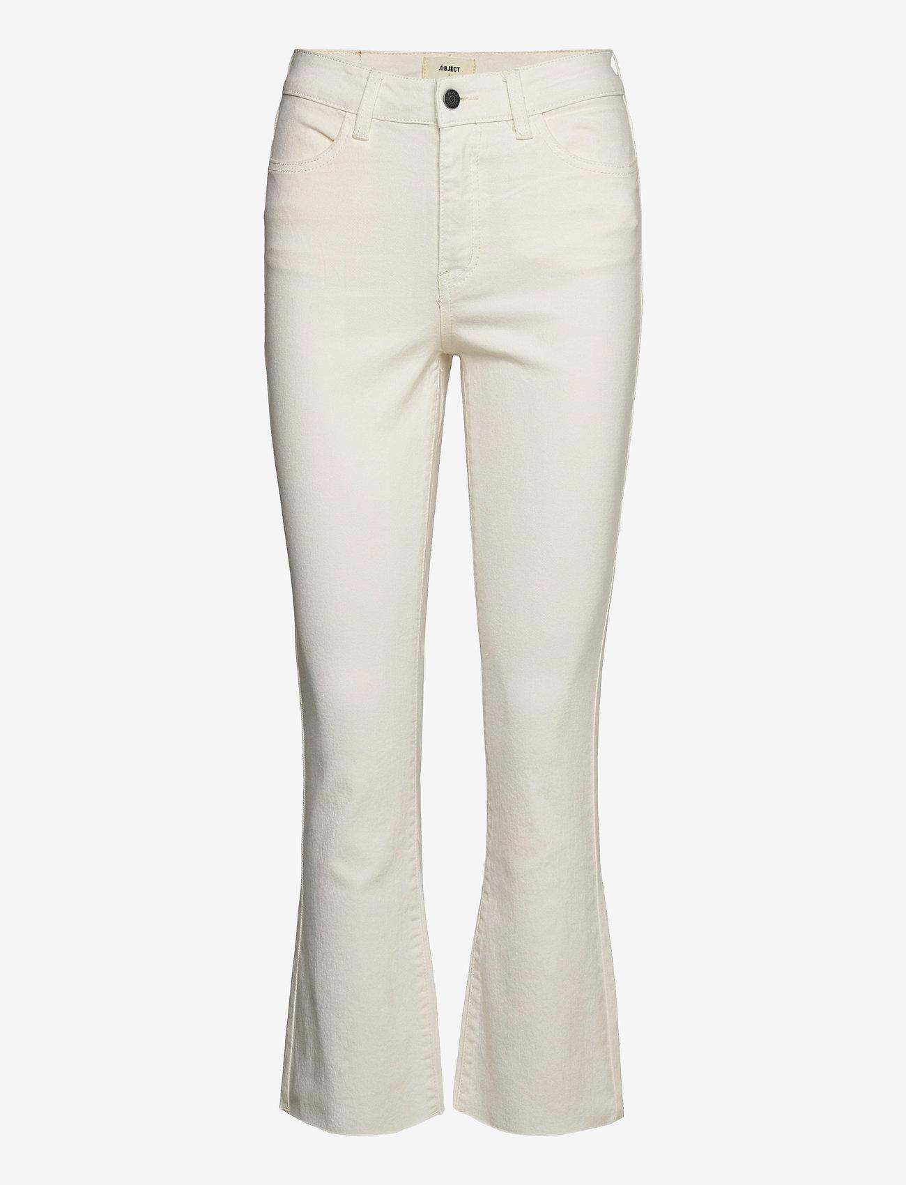 Object - OBJMARINA BELLE KICKFLARED TWILL JEANS - flared jeans - sandshell - 0