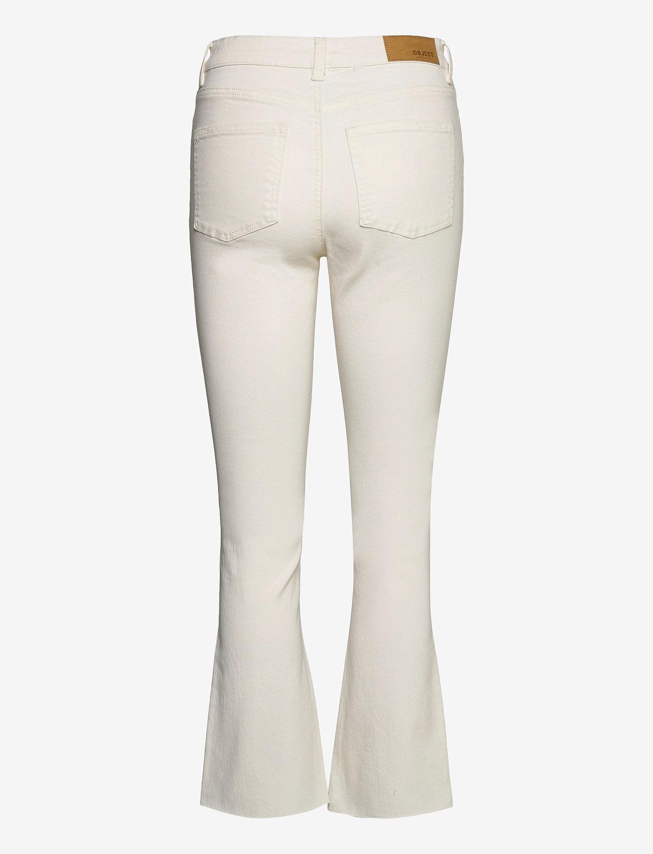 Object - OBJMARINA BELLE KICKFLARED TWILL JEANS - flared jeans - sandshell - 1