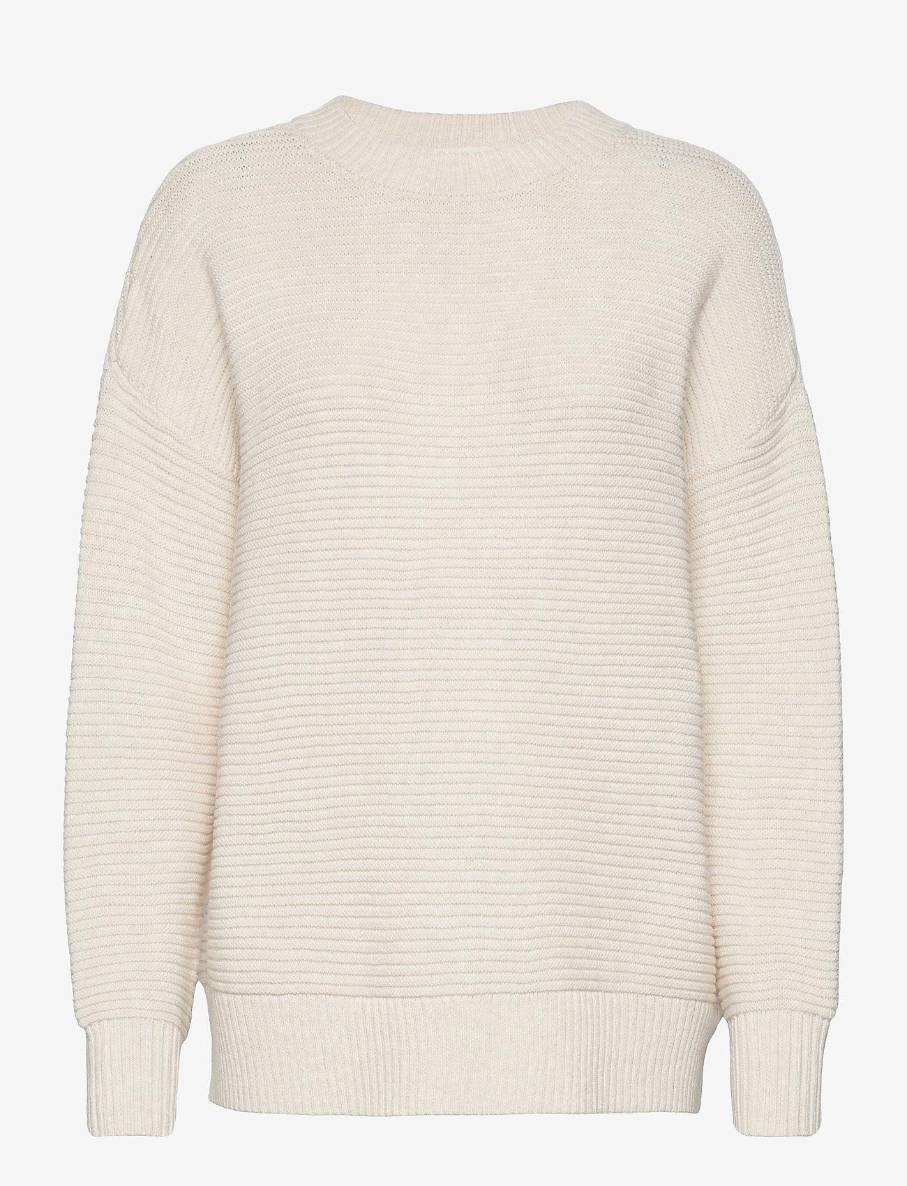 Object - OBJRANICE LONG L/S KNIT PULLOVER DIV - sweaters - sandshell - 0