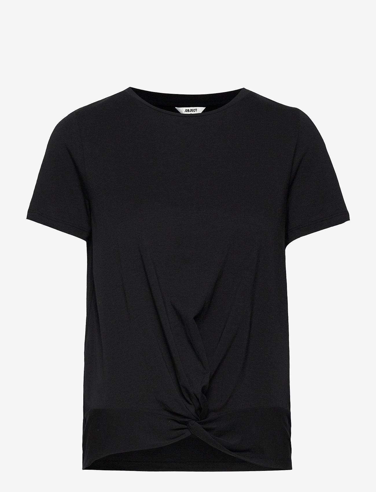 Object - OBJSTEPHANIE S/S TOP - t-shirts - black - 0