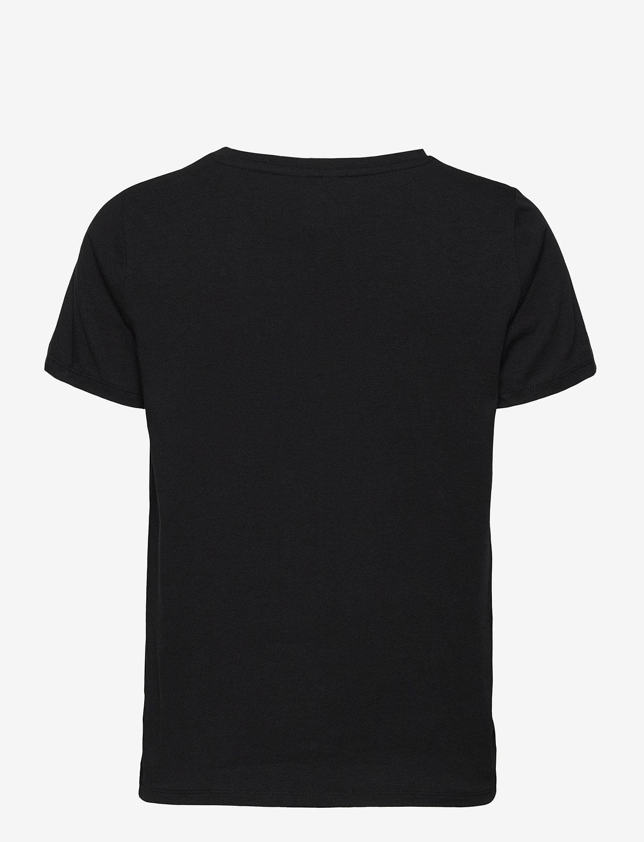 Object - OBJSTEPHANIE S/S TOP - t-shirts - black - 1