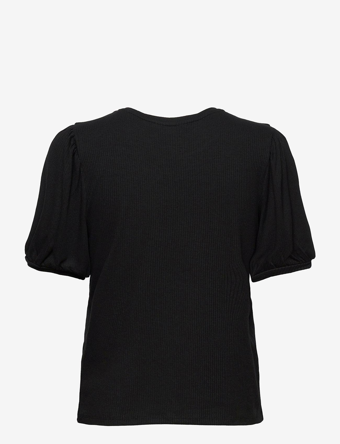 Object - OBJJAMIE S/S TOP - short-sleeved blouses - black - 1