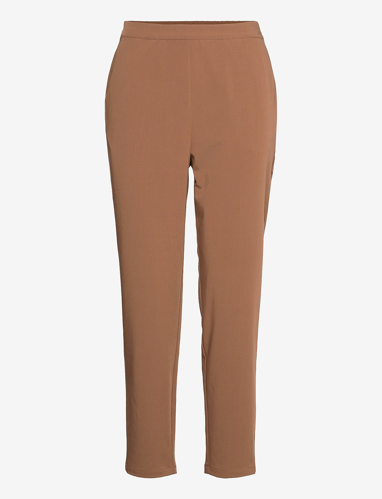 Object - OBJCECILIE NEW MW 7/8 PANTS - straight leg trousers - partridge - 0
