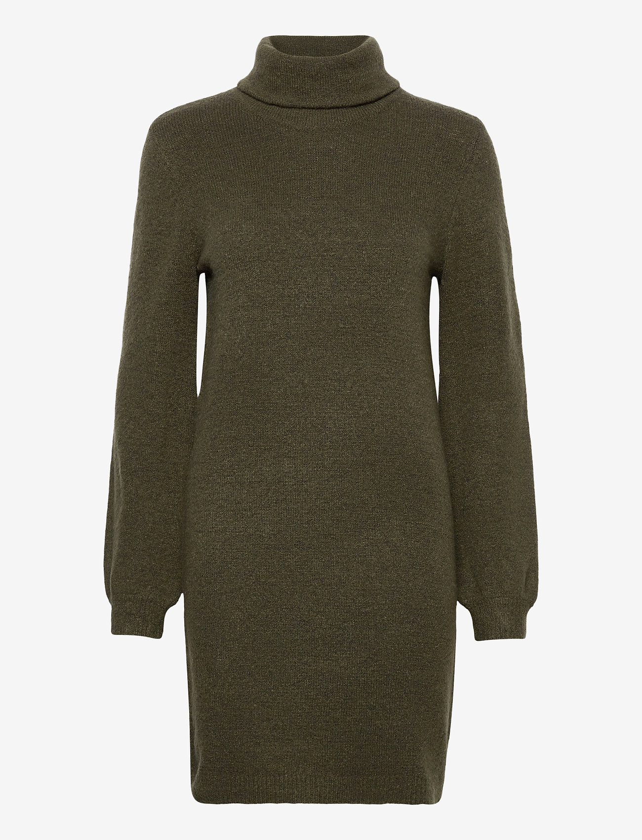 Object - OBJEVE NONSIA ROLLNECK  KNIT DRESS - everyday dresses - forest night - 0