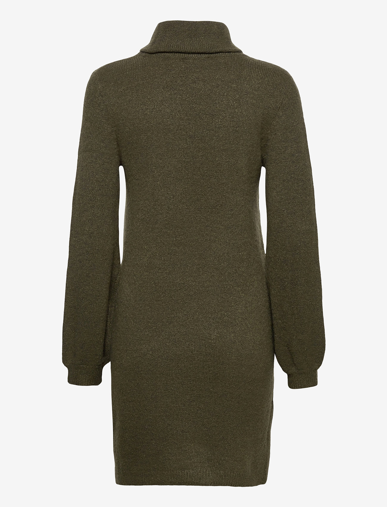 Object - OBJEVE NONSIA ROLLNECK  KNIT DRESS - everyday dresses - forest night - 1