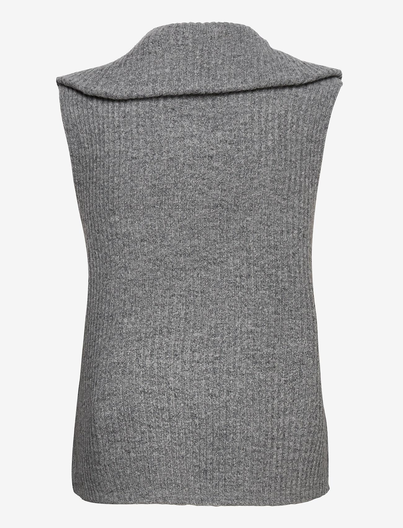Object - OBJRACHEL S/L KNIT VEST - knitted vests - light grey melange - 1